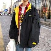 工裝服男春季潮流韓版百搭寬鬆學院風個性青少年短款帽衫百搭快速出貨