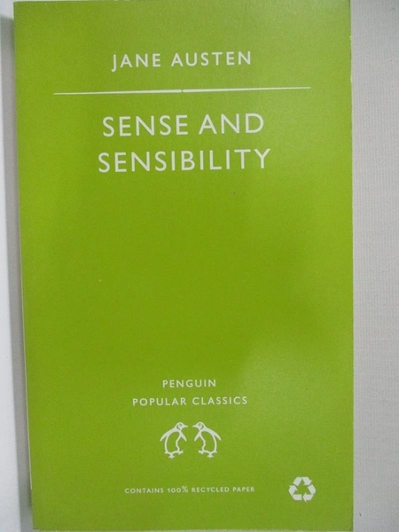 【書寶二手書T5/原文小說_HI1】Sense and Sensibility_Austen, Jane