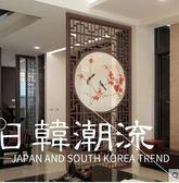 屏風 酒店臥室玄關簡約小戶型屏風隔斷裝飾客廳現代新中式實木镂空屏風