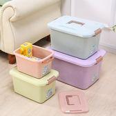 手提印花收納箱裝衣服玩具零食書本整理箱儲物箱箱子   創想數位igo