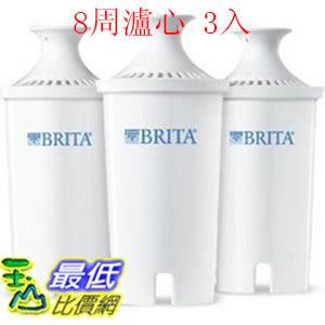[促銷到3月31 圓形8周濾芯] Brita 濾水壺濾心/濾芯 (3入) (和舊款相容可過濾151公升)