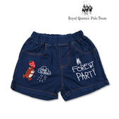女童 短褲 仿牛仔 棉短褲 草莓動物圖案[6602-8]RQ POLO 小童 春夏款 褲子