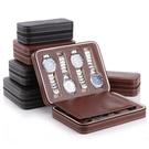 簡約8位拉鏈手錶首飾收納包 PU便攜式旅行手錶收納盒 名錶收納包