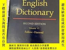 二手書博民逛書店The罕見Oxford English Dictionary.Volume VI Follow-HaswedY