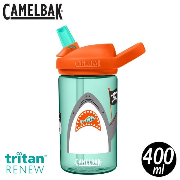 【CamelBak 美國 400ml eddy+kids兒童吸管運動水瓶RENEW《鯊魚海盜》】CB2472302041/水壺
