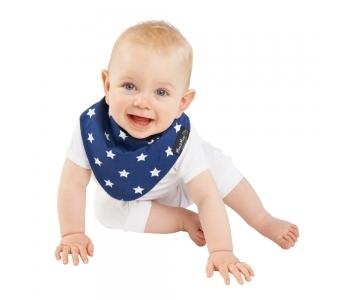 紐西蘭 Mum 2 Mum 雙面時尚造型口水巾圍兜-星星/藍 (4個月~3歲) 吃飯衣 口水衣 防水衣