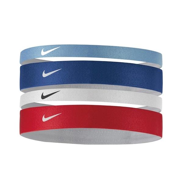 Nike Mixed Width [NJNC7988OS] 髮帶 髮束 運動 訓練 止滑 4入 藍紅