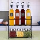 廚房用品調味罐鹽罐玻璃調料盒油壺家用調味盒調料瓶套裝