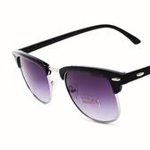 太陽眼鏡-偏光復古半框百搭抗UV女墨鏡4色71g83【巴黎精品】