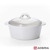 【ADERIA】日本進口陶瓷塗層耐熱玻璃調理鍋2L