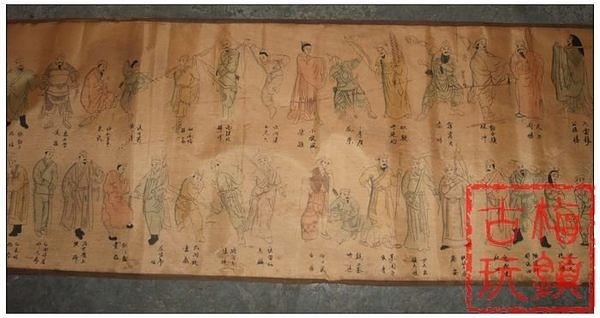 古字畫書法/長卷古畫/人物畫/長卷卷畫/一百零八將