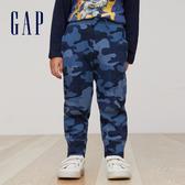 Gap男嬰幼童 純棉系帶迷彩休閒褲 兒童長褲358926-藍色迷彩