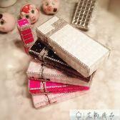 煙盒 創意禮品水鉆鑲鉆細長自動彈煙盒