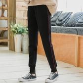 爾給褲子加絨運動褲冬季女寬鬆保暖學生ulzzang黑色直筒休閒褲女