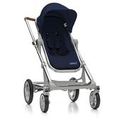 丹麥 Seed Papilio頂級嬰兒推車 (銀車架+藍座椅)