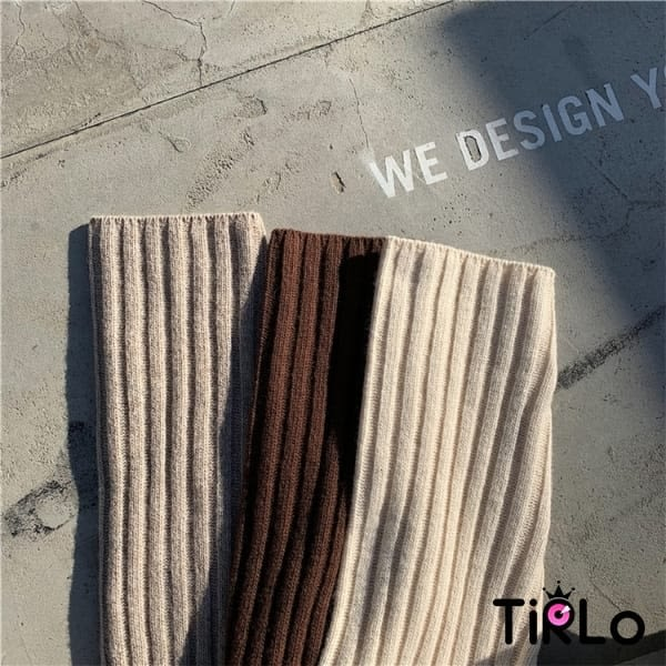 連身裙-Tirlo-小高領坑條針織連身裙-三色