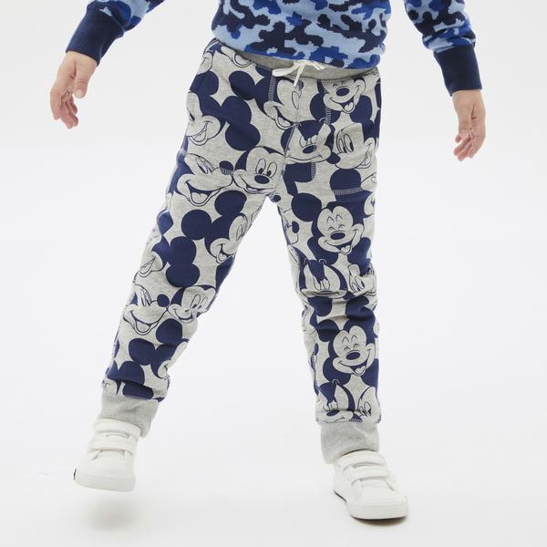 Gap男幼童 迪士尼系列仿羊羔絨休閒褲 593030-米奇印花