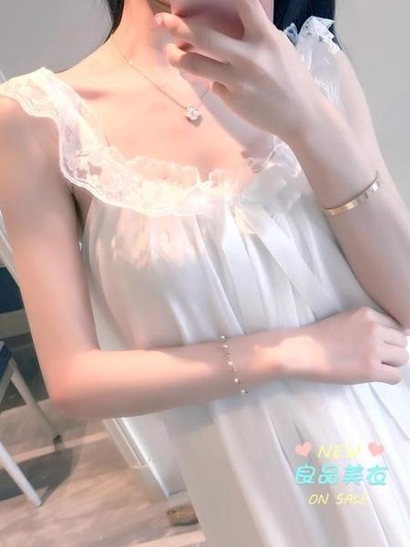 睡裙 宮廷睡衣女夏季薄款蕾絲睡裙女夏天棉質甜美公主風韓版寬鬆可外穿 多款