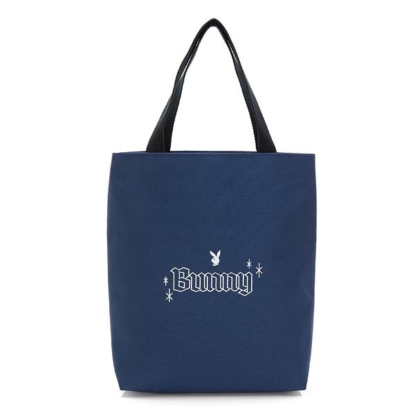 PLAYBOY- 手提袋 BUNNY兔系列-藍色