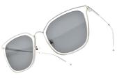 CARIN 太陽眼鏡 O'NEILL MORE C2 (透明-銀-藍鏡片) 韓星秀智代言 迷人簡約蝶形款 # 金橘眼鏡