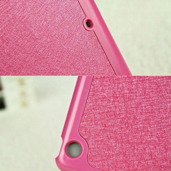 【妃航】超薄 iPad Air 1 蠶絲紋 背蓋 四折/支架/站立 防摔/防撞 平板 皮套/保護殼/保護套