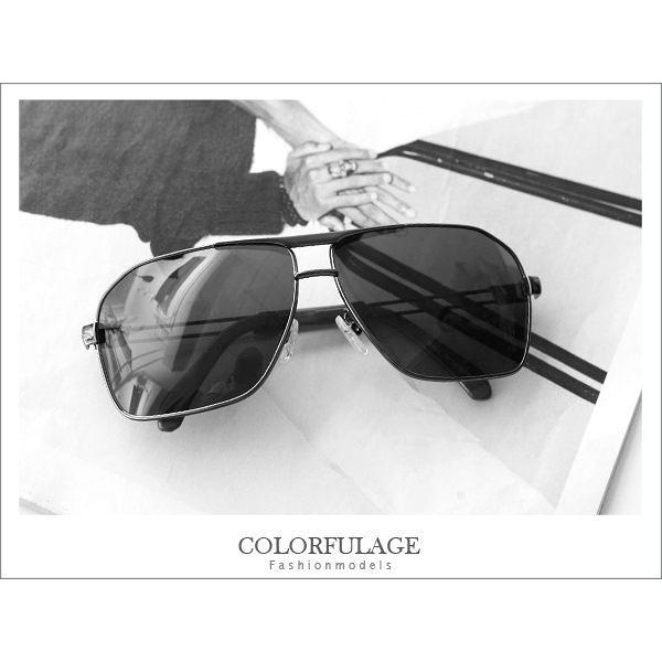 柒彩年代˙型男偏光效果抗UV400太陽眼鏡.墨鏡 春夏鏤空腳架【NY192】