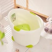 新生兒嬰兒沐浴桶寶寶泡澡游泳桶加厚塑料可坐保溫嬰幼兒泡澡浴桶