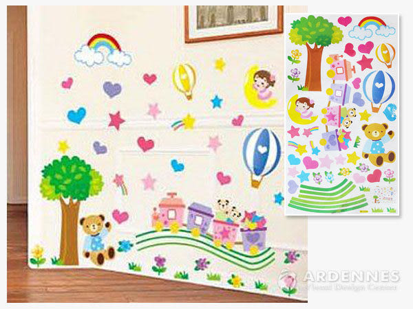 【ARDENNES】創意組合DIY壁貼/牆貼/兒童教室佈置 小火車