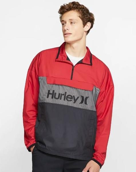 Hurley  M SIEGE ANORACK JACKET BLACK  夾克-黑x紅(男)