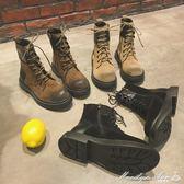 靴子 馬丁靴女秋季英倫風學生棉鞋正韓百搭INS短筒網紅短靴冬瑪麗蓮安