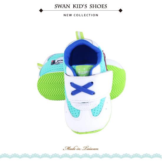 Swan天鵝童鞋-可愛汽車警車機能學步鞋 1554-白