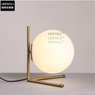 INPHIC- 現代簡約圓球檯燈北歐時尚家居臥室床頭燈玻璃鐵藝裝飾檯燈-黃光_S197C