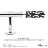 310~400cm 北歐時尚金屬窗簾桿 黑/白雙色 管徑加大、受力更強310~400