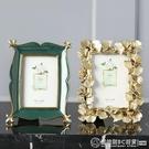 歐式美式復古金色銀杏葉子6寸相框畫框家居飾品擺件 圖拉斯3C百貨