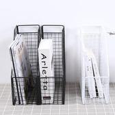 櫻倫鐵藝復古辦公室文件夾收納筐桌面收納架創意書架資料盒置物架 9號潮人館