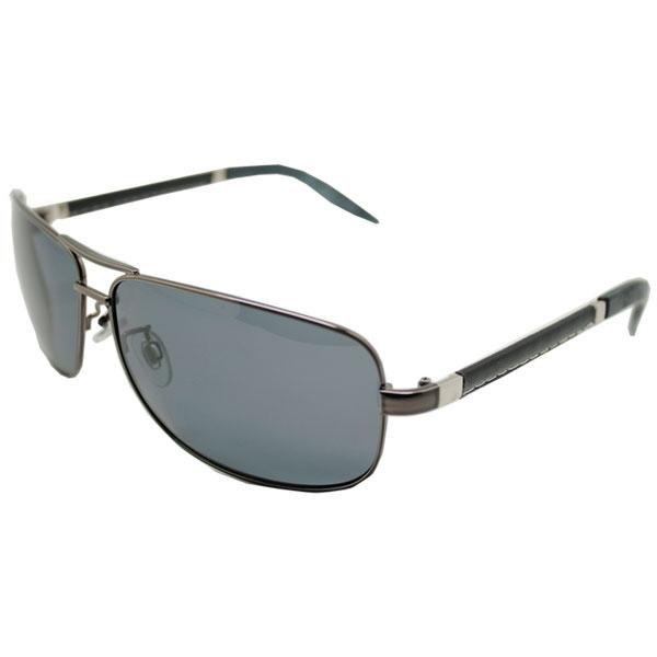 OT SHOP太陽眼鏡‧台灣製抗UV400歐美皮革縫線感鏡腳寶利來偏光雷朋墨鏡‧黑/茶‧現貨‧B15