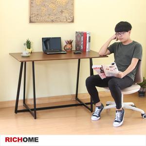 【RICHOME】鋼鐵人經典工作桌胡桃木紋色