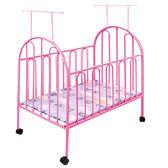 嬰兒床嬰兒床帶滾輪蚊帳兒童寶寶環保無味bb床多功能新生兒大床鐵床WY