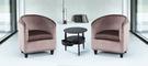 【南洋風傢俱】房間椅洽談椅系列-黑鐵刀小邊几休閒桌椅組 CX689-3 CX606-3