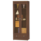 【采桔家居】杜安 時尚2.8尺木紋二門二抽書櫃/收納櫃