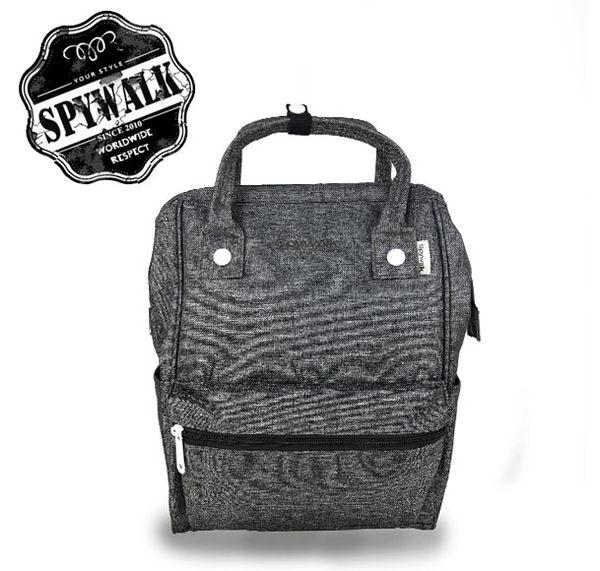 後背包 SPYWALK日系大開口磨砂料電腦背包雙肩包 NO:S8061