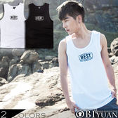 背心【JG0681】OBI YUAN韓版logo簡約風BEST彈性棉質背心  共2色