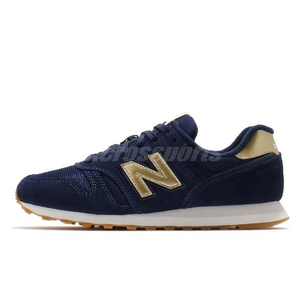 New Balance 休閒鞋 NB 373 藍 金 女鞋 麂皮 復古慢跑鞋 運動鞋 【ACS】 WL373FD2B