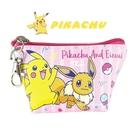 日本限定 寶可夢系列 皮卡丘 & 伊布 收納小包 / 零錢包