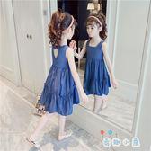 女童連身裙夏裝兒童裙子時髦夏季公主裙【奇趣小屋】
