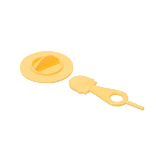 【奇買親子購物網】黃色小鴨標準口徑專用奶瓶螺牙蓋組(圓型)