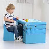 兒童書桌 兒童桌椅套裝幼兒園游戲玩具小桌子椅子寶寶學習書桌木包布 珍妮寶貝