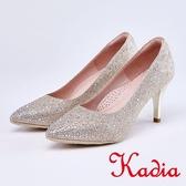 kadia.晚宴婚嫁首選 閃亮水鑽點綴高跟鞋(9027-25金色)