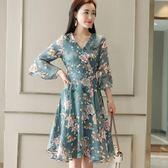 30歲40中年女夏裝短袖修身顯瘦連身裙時尚