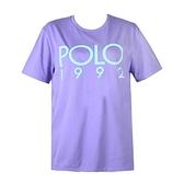 【南紡購物中心】Ralph Lauren POLO膠字圓領短袖T恤-紫